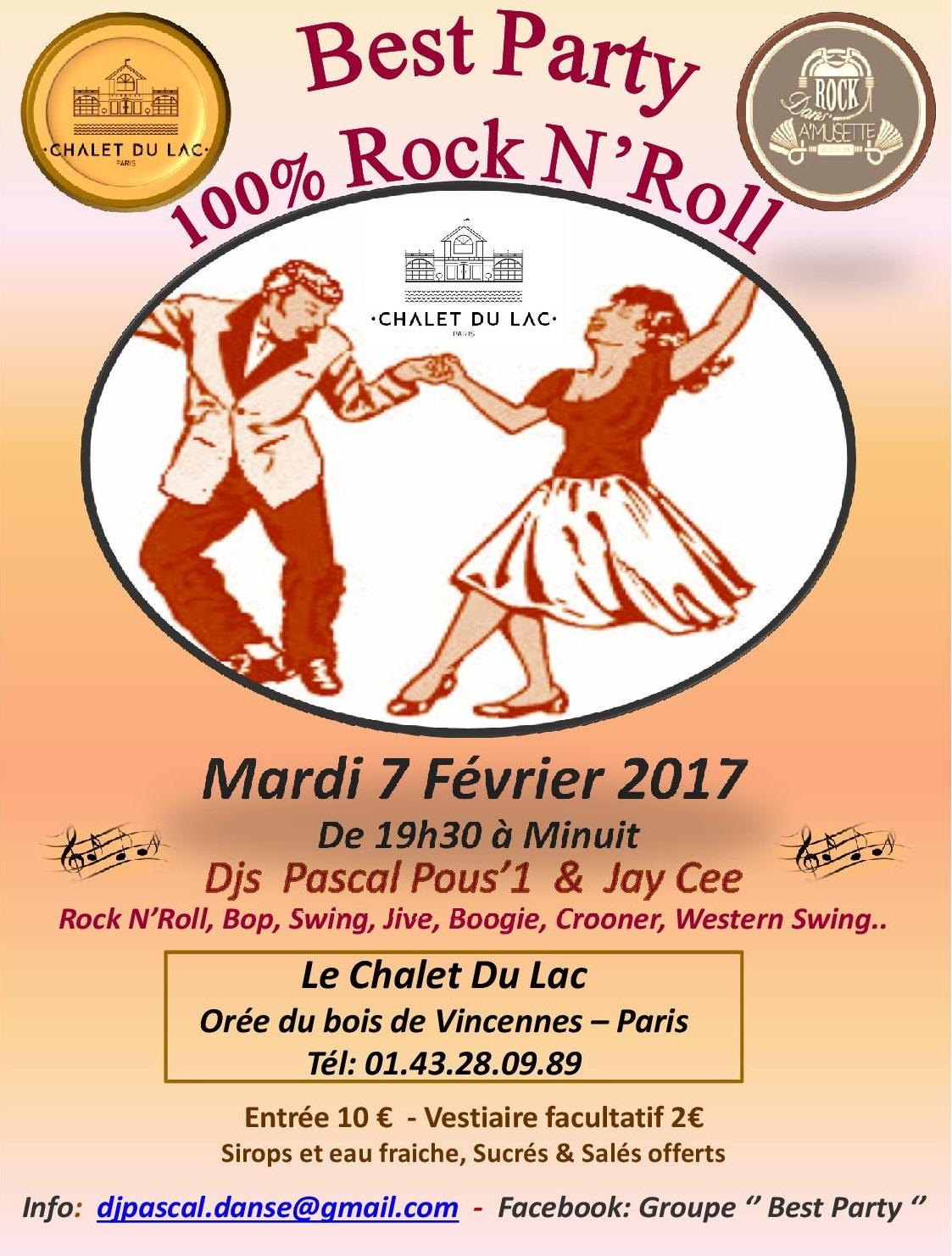 J-7 Avant la '' Best Party '' 100% Rock N'Roll au Chalet